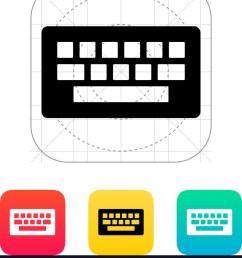 computer keyboard icon vector image [ 883 x 1080 Pixel ]