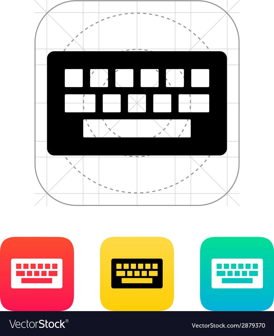 medium resolution of computer keyboard icon vector image