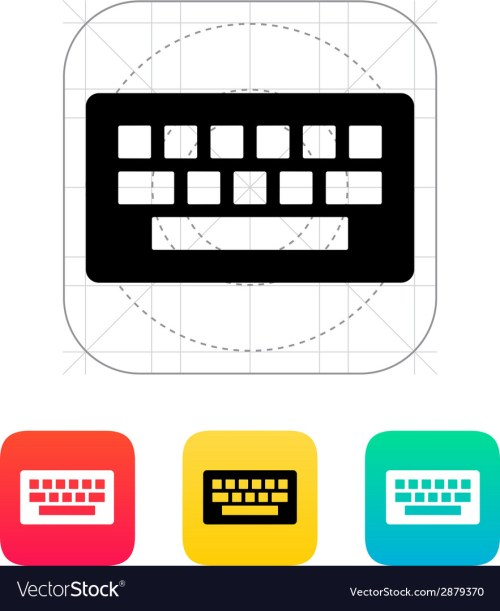 small resolution of computer keyboard icon vector image