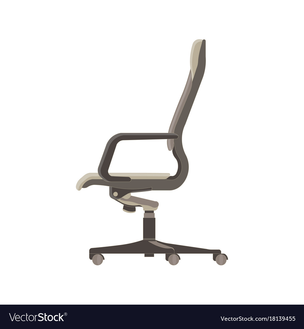 office chair illustration race seat base flat icon isolated furniture side vector image