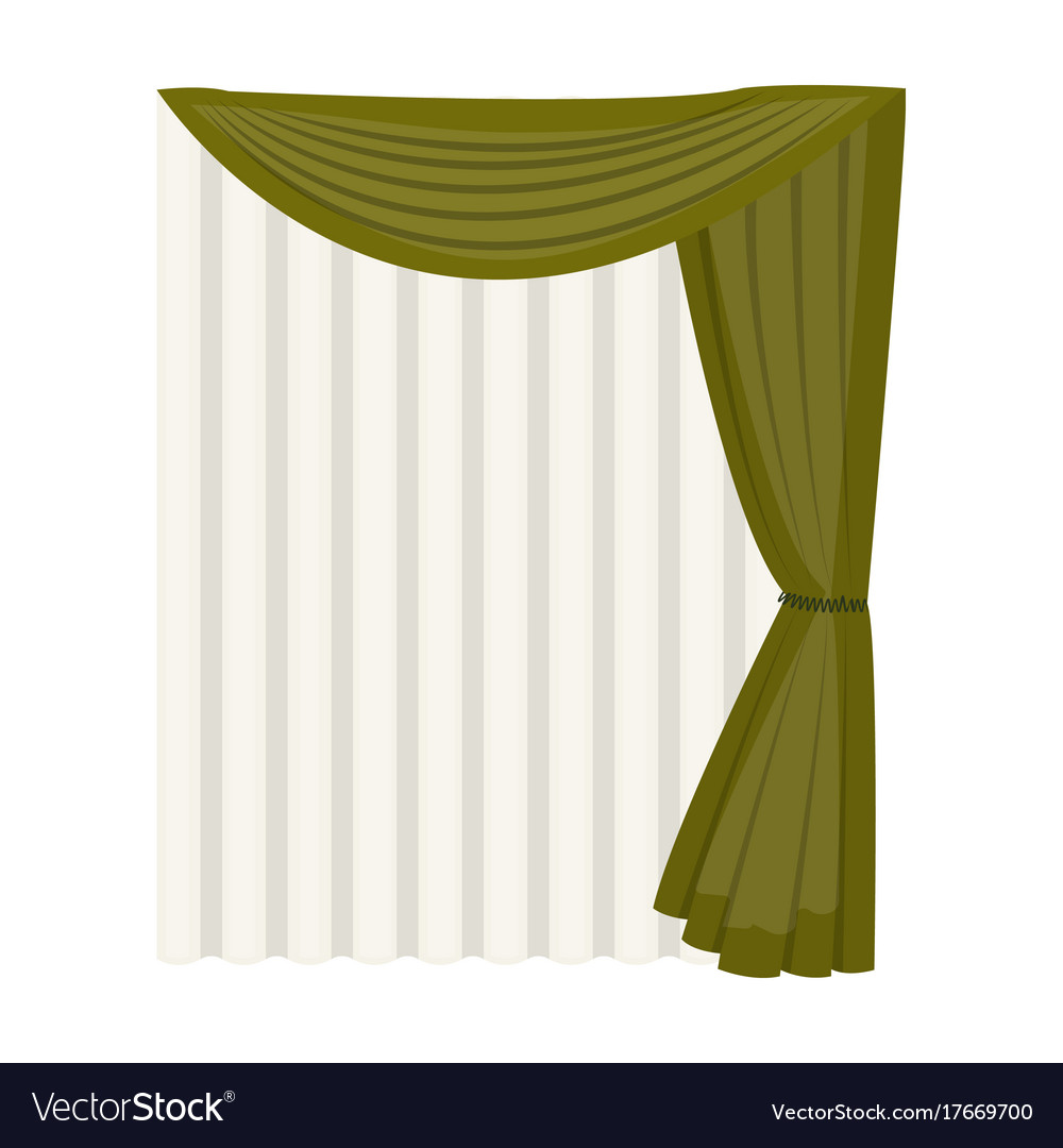 curtains single icon in