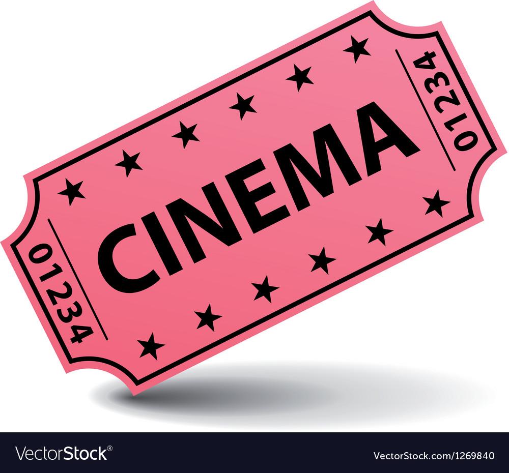 pink cinema ticket