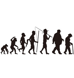 Silhouette man evolution Royalty Free Vector Image