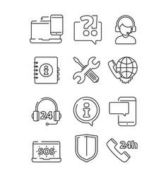 User guide icon outline style Royalty Free Vector Image
