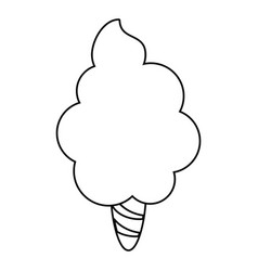 cotton candy line vector
