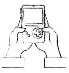 Portable game device psp icon graphic Royalty Free Vector