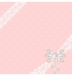 background pink invitation card vector