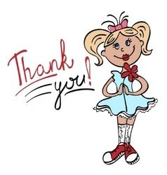 thank you cartoon girl