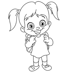 Cartoon Girl Outline Vector Images over 14 000
