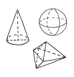 Hand Written Geometry Formulas Royalty Free Vector Image