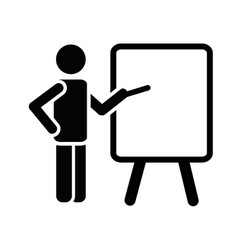 The teacher icon Training and presentation Vector Image