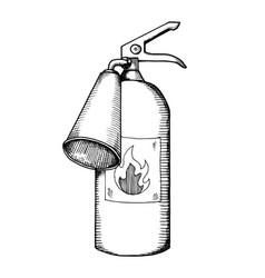 Fire extinguisher on transparent background Vector Image