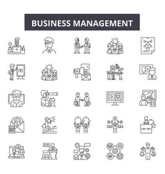 Chambers commerce line icons signs set Royalty Free Vector