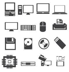 Computer parts diagram Royalty Free Vector Image