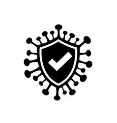 Corona virus icon on white background Royalty Free Vector
