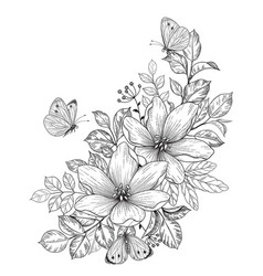 Butterfly Clipart Black and White Vector Images over 190