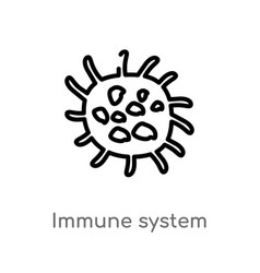Two color immune system icon from human body Vector Image