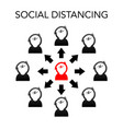 Social distancing concept people in a row Vector Image