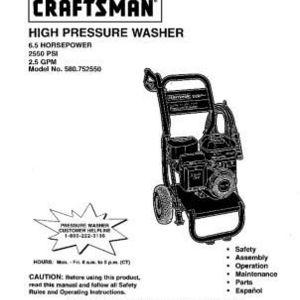Craftsman 580.752550 High Pressure Washer Reviews