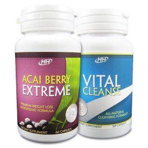 HH Nutritionals Acai Berry Extreme/Vital Cleanse Set ...