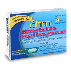 Ohm Allergy Relief and Nasal Decongestant Tablets Reviews ...
