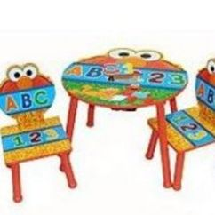 Sesame Street Table And Chairs Harvest Idea Nuova Elmo 3 Piece Reviews – Viewpoints.com