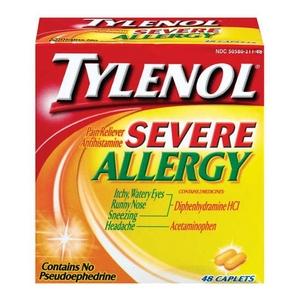 Image Result For Tylenol Severe Allergy Ingre Nts