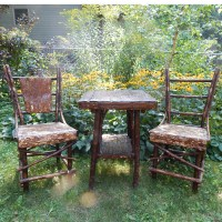 Native Made Table & Chairs - Rustic Decor | Vintage Adirondack