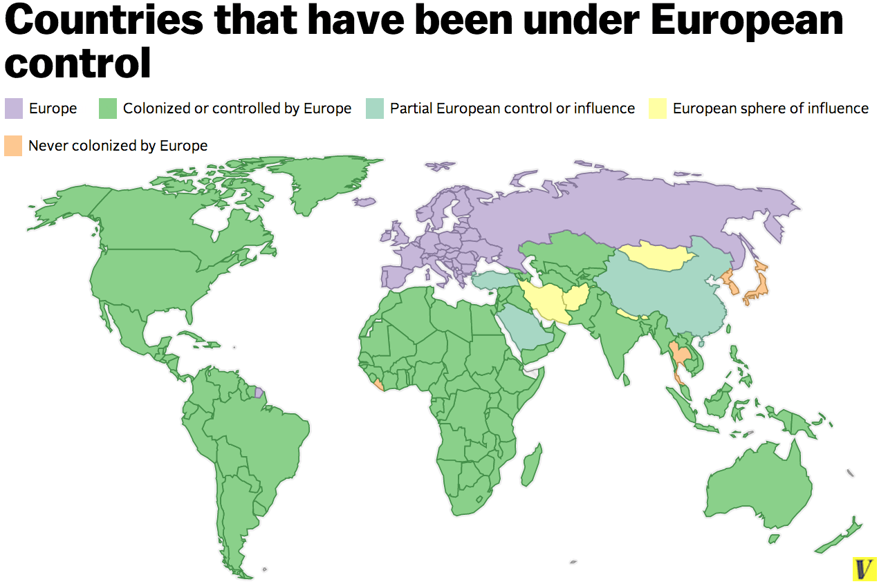 Map European Colonialism Conquered Every Country In The