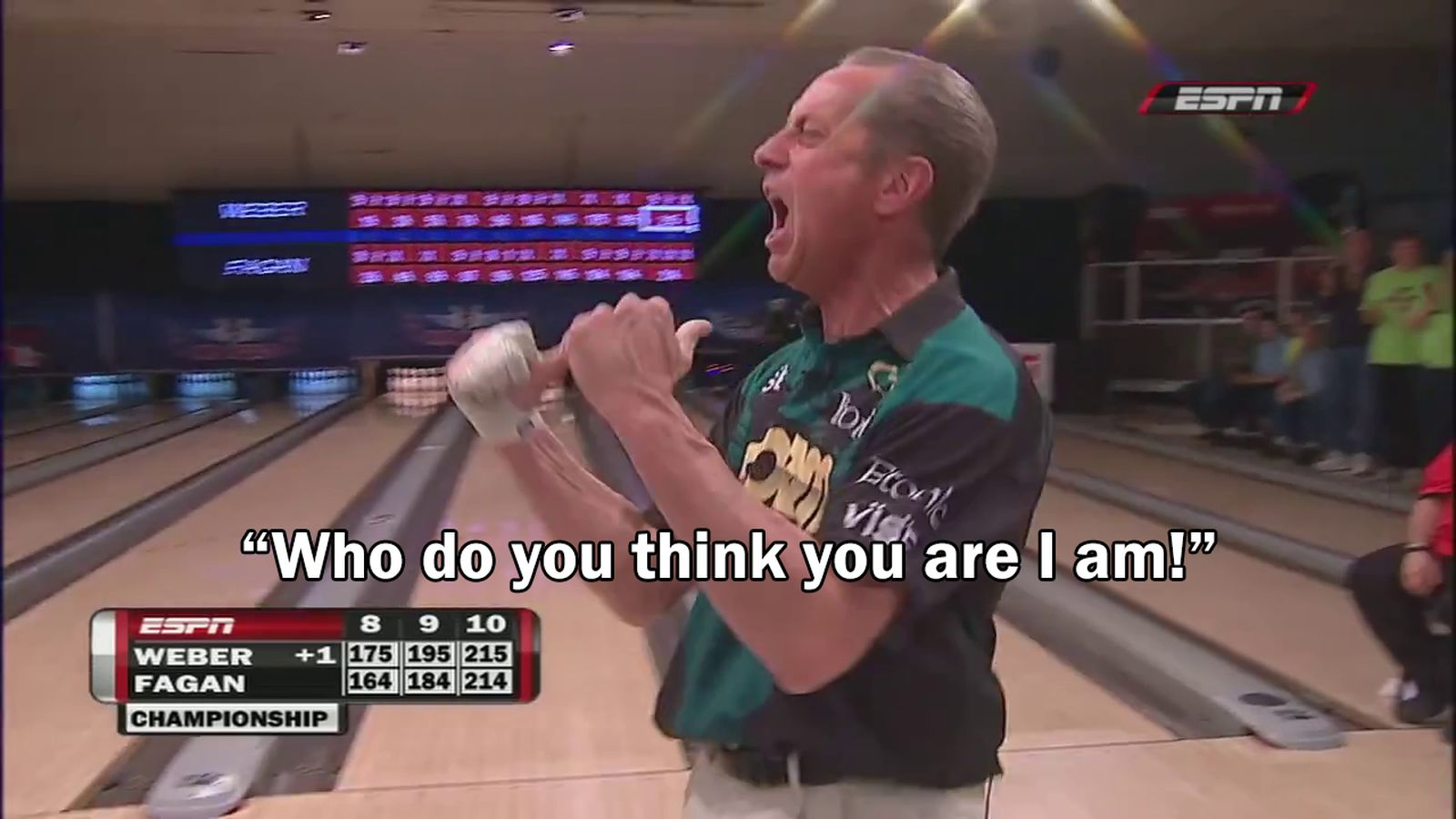 Who do you think you are I am Remembering the hottest quote in bowling history  SBNationcom