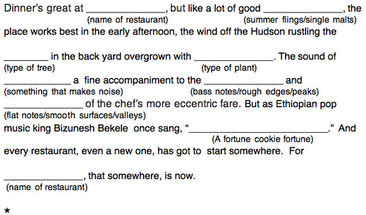 And Now Sam Sifton Mad Libs  Eater NY