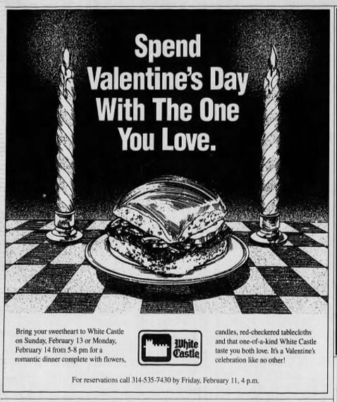 How White Castle Became An Unlikely Valentines Day