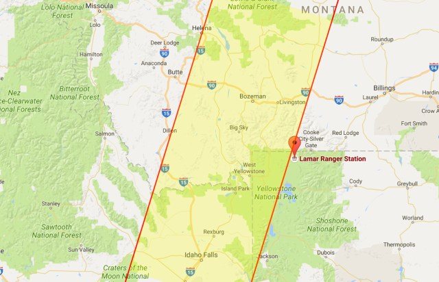 Screenshot of annotated Google map, highlighting where the treasure could be.