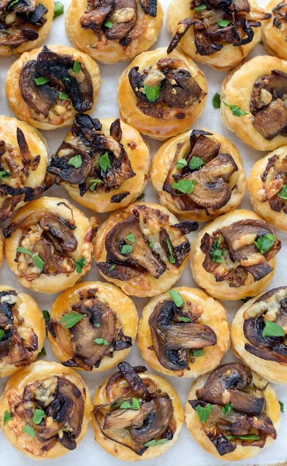 Cheesy Mushroom Puff Pastry Bites. An easy and delicious puff pastry appetizer