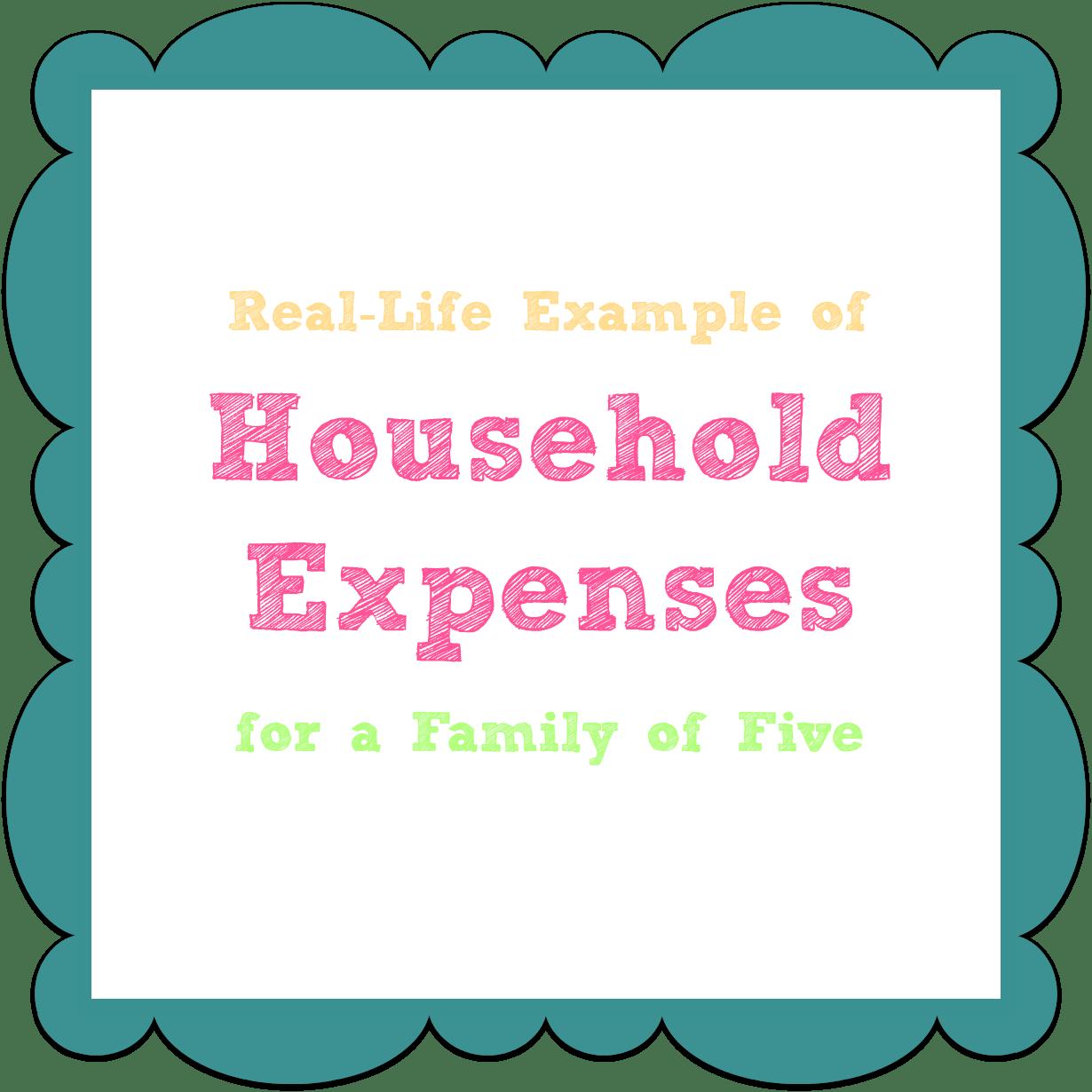 List Household Expenses Worksheet