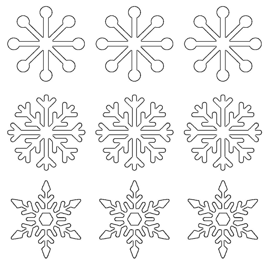 Free Printable Snowflake Templates Large Amp Small Stencil