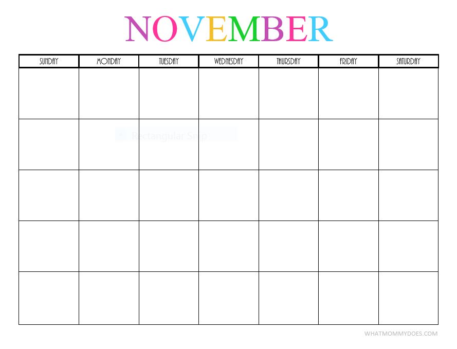 Image Result For Printable Fill In Calendar