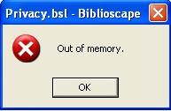Недостаточно памяти