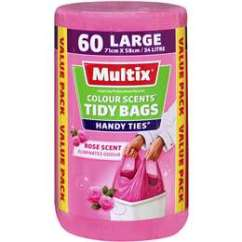 Kitchen Bags Eat In Tables Garbage Woolworths Multix Tidy Large Colour Scents Rose 60 Pack