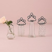 Vintage Inspired Pressed Glass Vases with Table Number ...