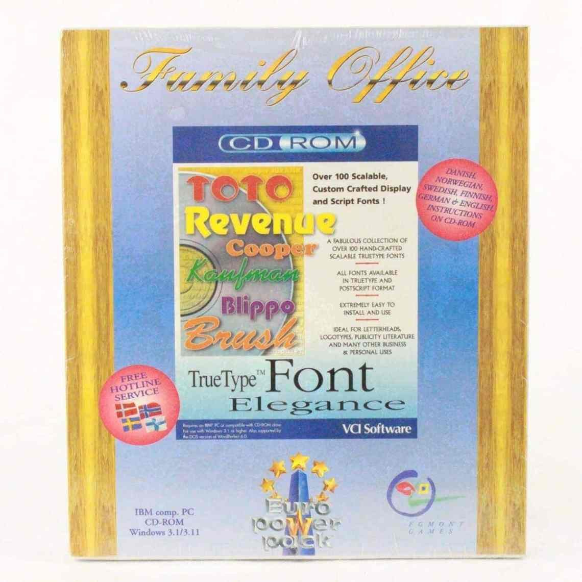 Download Familiy Office - Font (PC, VCI Software, Euro Power Pack)