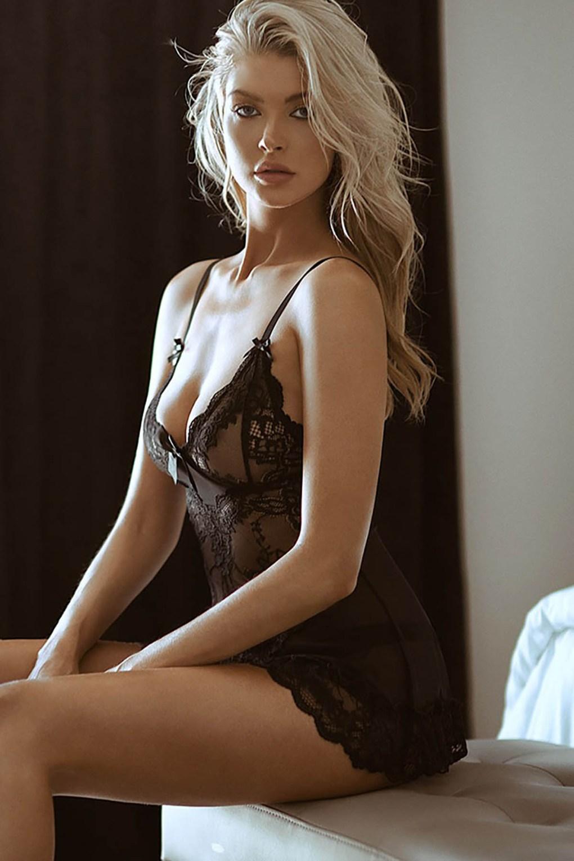 Nuisette sexy Lingerie Dentelle sous-Vêtements transparent
