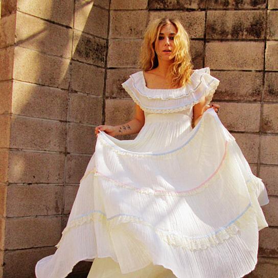 Buy GUNNE SAX off the shoulder 1970s bohemian wedding
