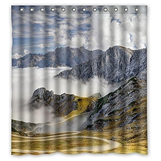 mountains germany scenery alps bavaria nature shower curtain waterproof polyester fabric shower curtain size 60x72 inches