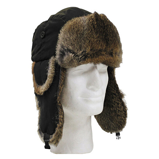 kitchen hats high chair for counter buy winter trapper faux fur pilot hat with ear flaps by ...