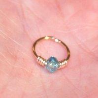 Buy Crystal Cartilage Hoop, Blue Nose Ring, Nose Hoop ...
