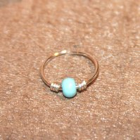 Buy Thick 16 Gauge Cartilage Earrings, Turquoise Beaded ...