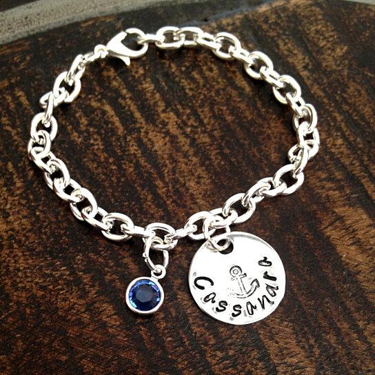 kitchen mittens pendant lighting buy girls charm bracelet handstamped anchor ...