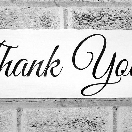 Buy Thank you Sign, Wedding Signs, Thank You photo prop