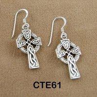 Buy Sterling Silver Celtic Cross Earrings by Celtic ...